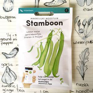 Product afbeelding los zakje stamboon uit seizoen serie voor website Birds and Berries België