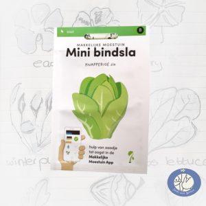 Product afbeelding ID 2519 met informatie over bindsla zaden Makkelijke Moestuin voor website Birds and Berries België