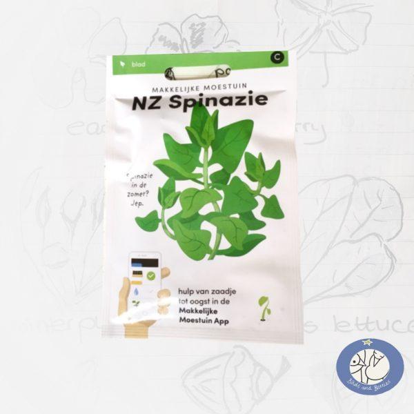 Product afbeelding ID 2525 met informatie over NZ-spinazie zaden Makkelijke Moestuin voor website Birds and Berries België