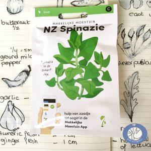 Product afbeelding los zakje NZ spinazie uit seizoens serie voor website Birds and Berries België