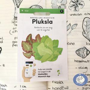 Productafbeelding van een los zakje zaden gemengde pluksla mix uit de serie basis zaden voor de webshop van Birds and Berries