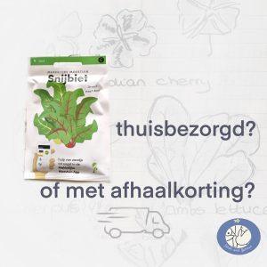 Product afbeelding snijbiet van de Makkelijke Moestuin zaden. Kies voor thuisbezorging of afhaalkorting bij Birds and Berries België