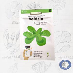Product afbeelding ID 2523 met informatie over Veldsla zaden Makkelijke Moestuin voor website Birds and Berries België