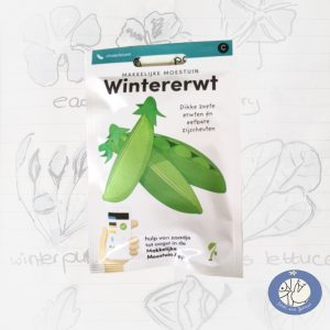 Product afbeelding ID 2531 met informatie over Wintererwt zaden Makkelijke Moestuin voor website Birds and Berries België