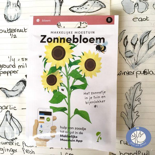 Product afbeelding los zakje zonnebloem seizoen serie voor website Birds and Berries België