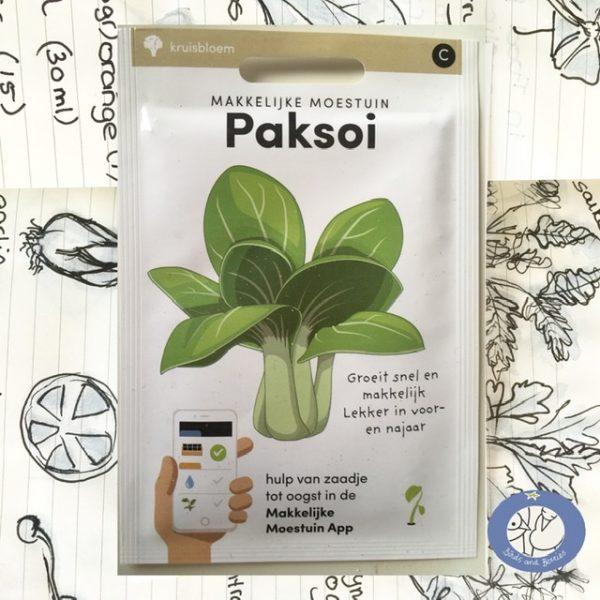"""Product afbeelding van een nieuw zakje zaden """"paksoi"""" Product 2,79€"""