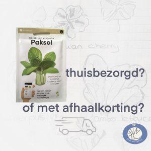 Product afbeelding Paksoi van de Makkelijke Moestuin zaden. Kies voor thuisbezorging of afhaalkorting bij Birds and Berries België