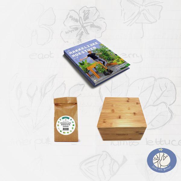 Productafbeelding growbag cadeau pakket voor webshop Birds and Berries