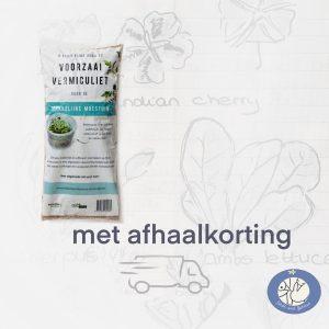 Product afbeelding voorzaaivermiculiet van de Makkelijke Moestuin. Hier met afhaalkorting bij Birds and Berries België