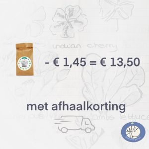 Productafbeelding basiszaden met afhaalkorting via webshop Birds and Berries