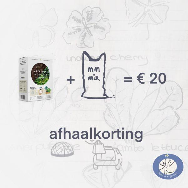 Productafbeelding pakket voeding en MM Mix moestuinaarde bij Birds and Berries in Bonheiden