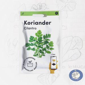 Product afbeelding los zakje Koriander zaden Makkelijke Moestuin voor website Birds and Berries België