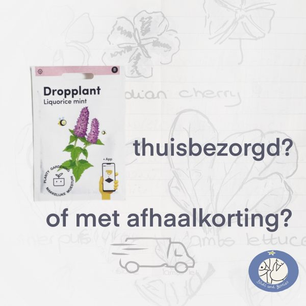 Product afbeelding dropplant van de Makkelijke Moestuin zaden. Kies voor thuisbezorging of afhaalkorting bij Birds and Berries België