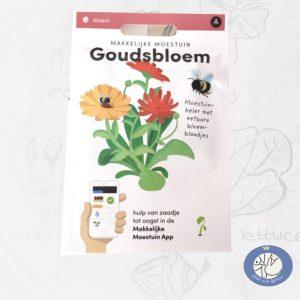 Product afbeelding ID 2594 met informatie over Goudsbloem zaden van het merk Makkelijke Moestuin. Met de bestelmogelijkheden voor de website Birds and Berries België