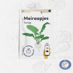 Product afbeelding los zakje Meiraapjes zaden Makkelijke Moestuin voor website Birds and Berries België